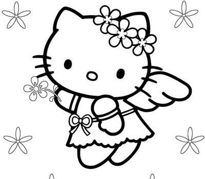Vari disegni da colorare hello kitty