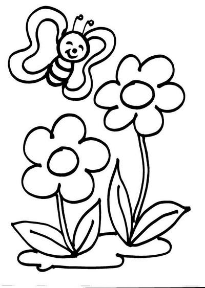 L 39 usignolo disegni fiori da colorare for Disegni fiori da colorare