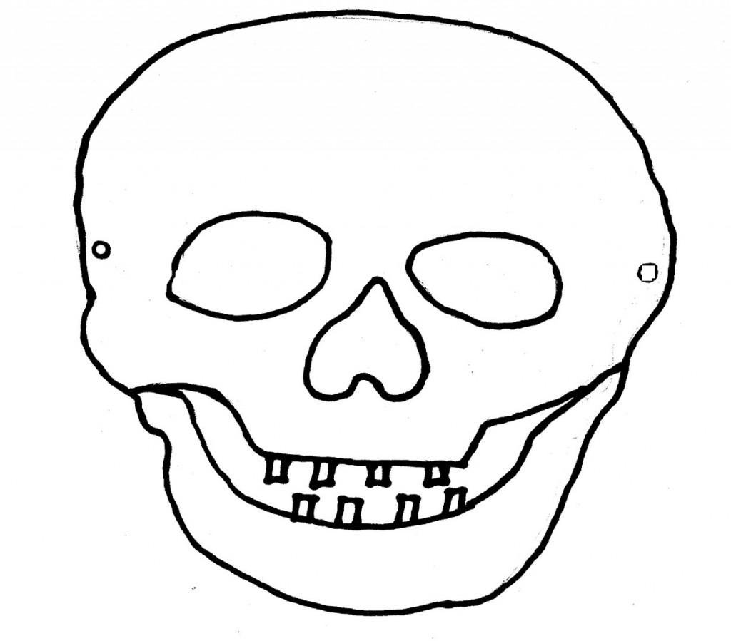 L 39 usignolo le maschere di halloween fai da te for Teschi da disegnare