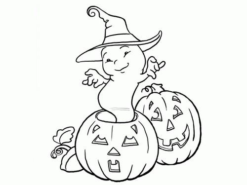 L 39 usignolo disegni halloween da colorare e stampare - Pagina da colorare per halloween ...