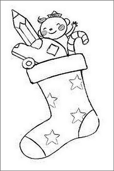L 39 usignolo calze della befana da colorare - Stampabili per bambini gratis ...